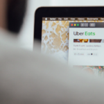 Uber Eats selection on laptop